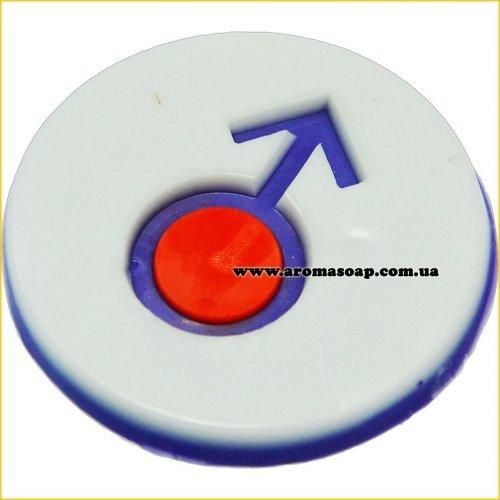 Знак Марса штамп (силикон)
